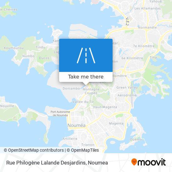 Rue Philogène Lalande Desjardins map