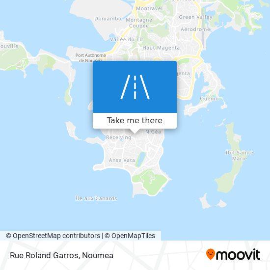 Rue Roland Garros map