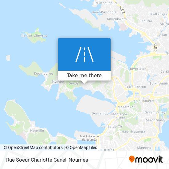 Rue Soeur Charlotte Canel map