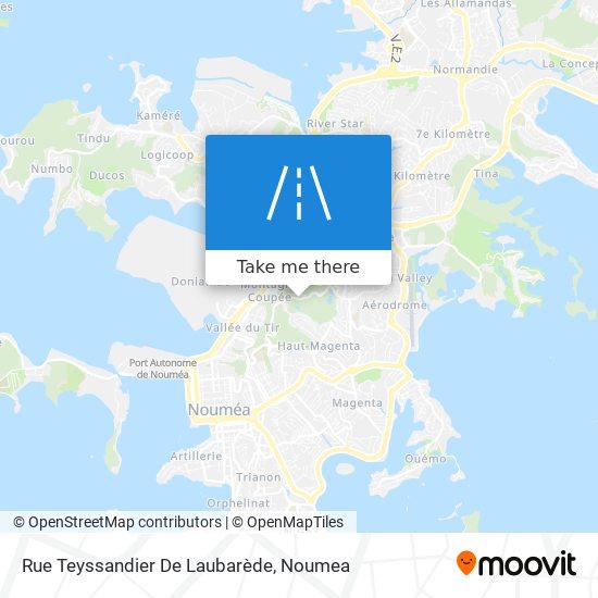 Rue Teyssandier De Laubarède map