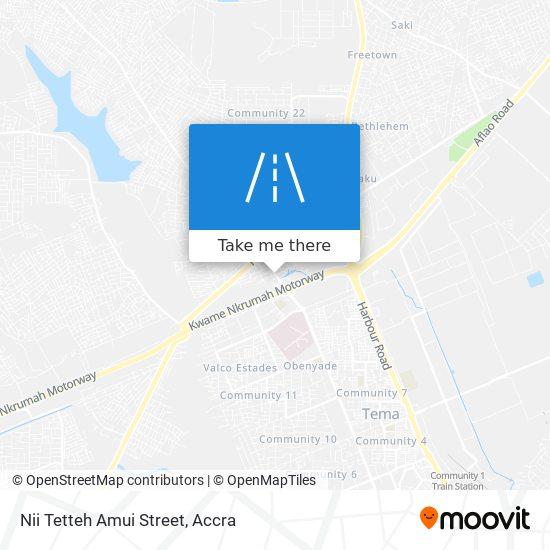 Nii Tetteh Amui Street map
