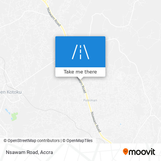 Nsawam Road map