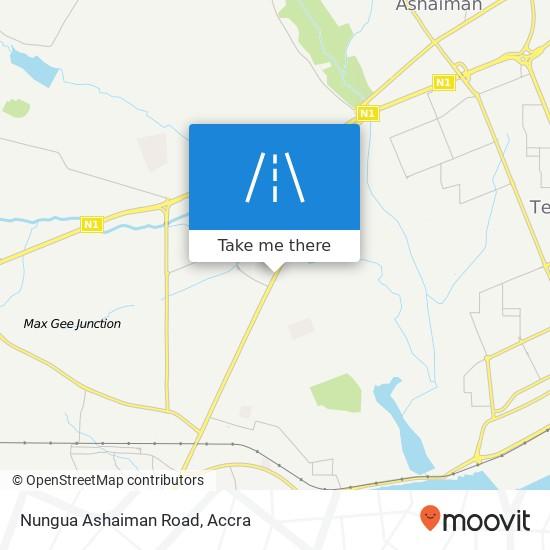Nungua Ashaiman Road map