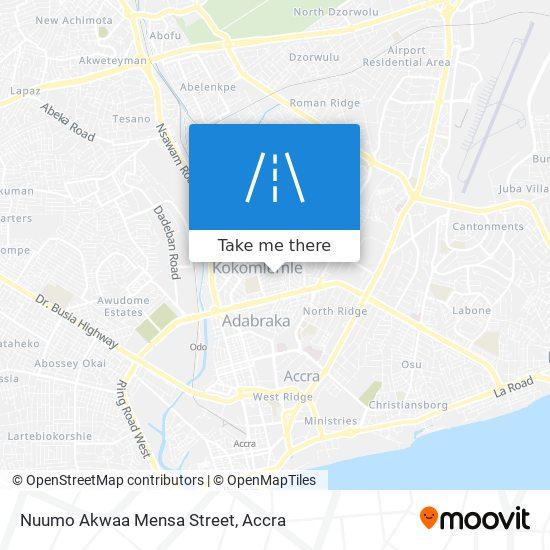 Nuumo Akwaa Mensa Street map