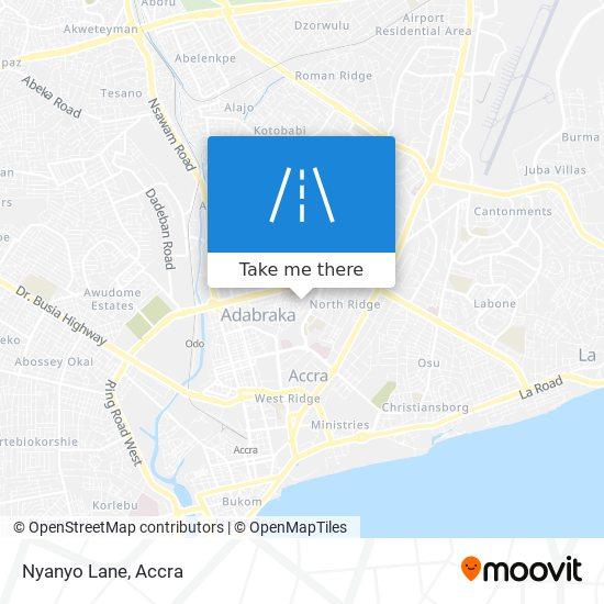 Nyanyo Lane map