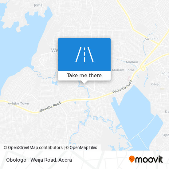 Obologo - Weija Road map