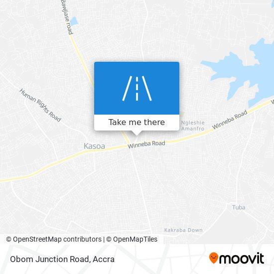 Obom Junction Road map