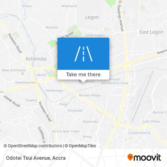 Odotei Tsui Avenue map