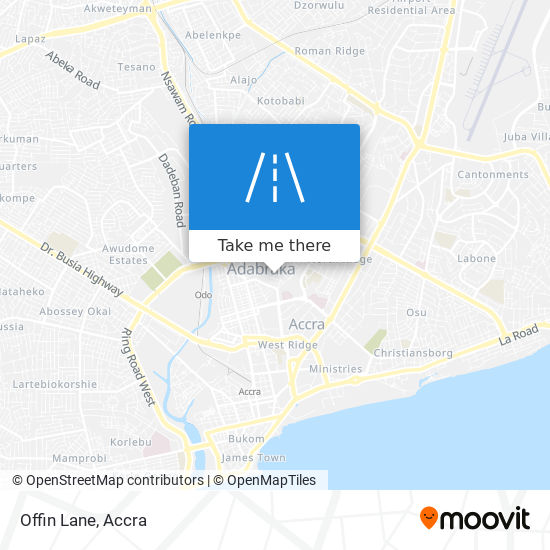 Offin Lane map