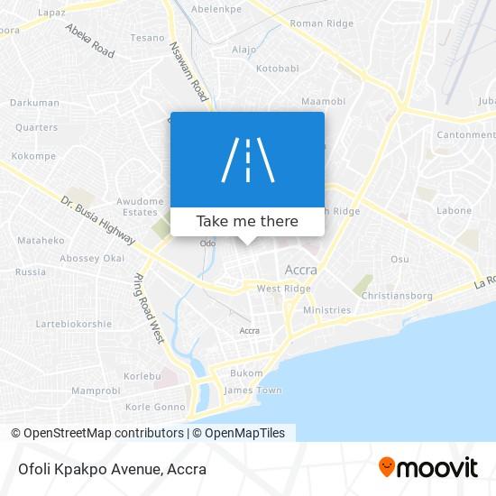Ofoli Kpakpo Avenue map