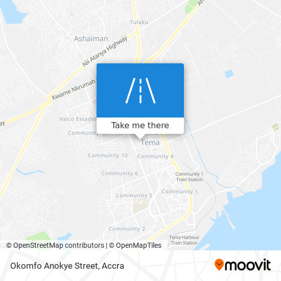 Okomfo Anokye Street map