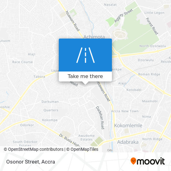 Osonor Street map
