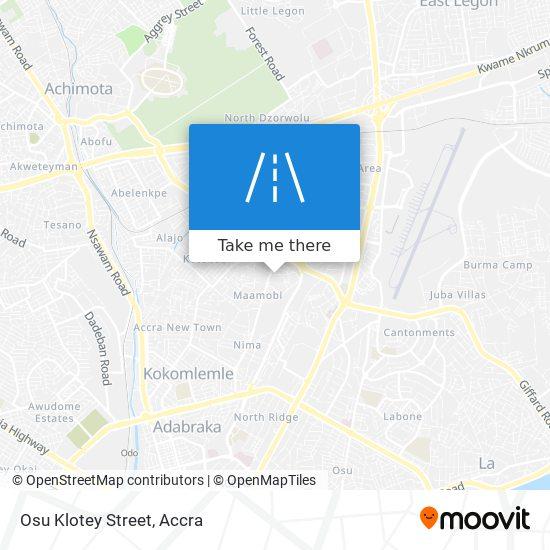 Osu Klotey Street map