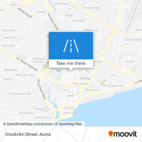 Otsokrikri Street map
