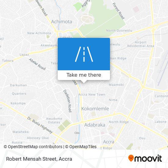 Robert Mensah Street map