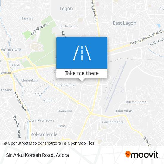 Sir Arku Korsah Road map