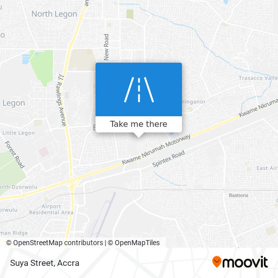 Suya Street map