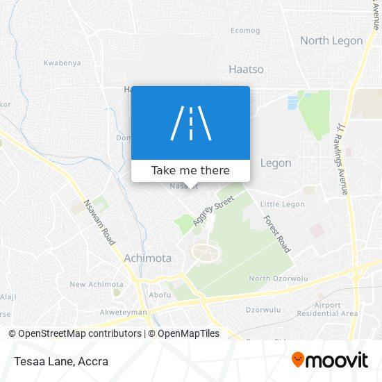 Tesaa Lane map