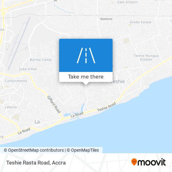 Teshie Rasta Road map