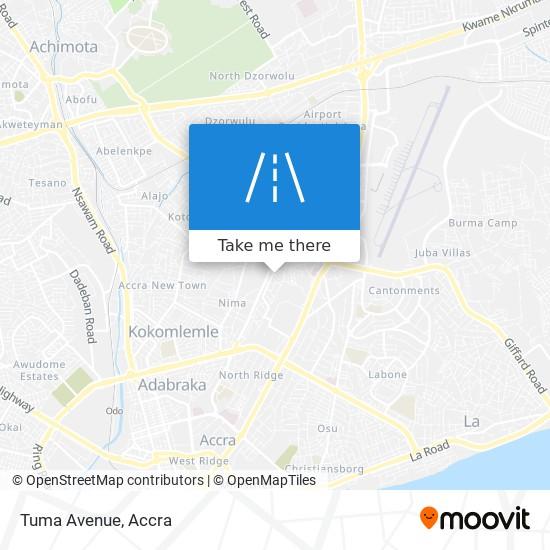 Tuma Avenue map