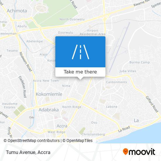 Tumu Avenue map