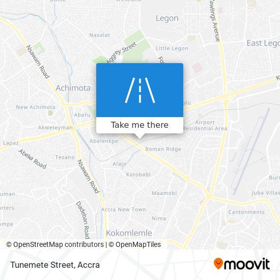 Tunemete Street map