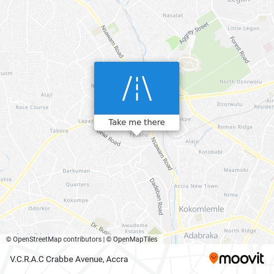 V.C.R.A.C Crabbe Avenue map