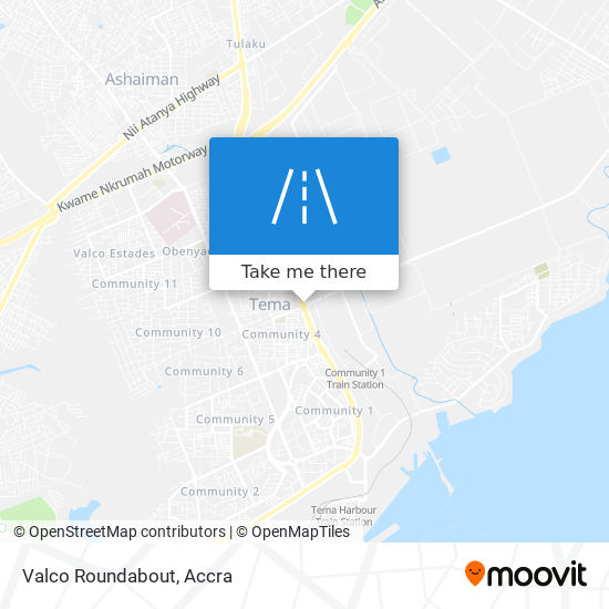 Valco Roundabout map