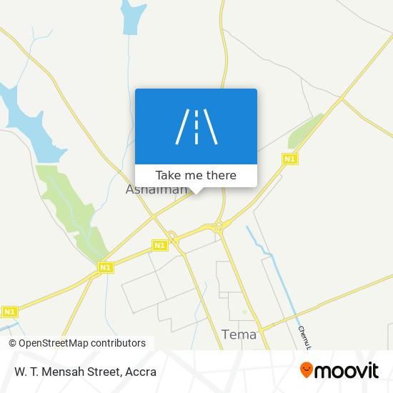 W. T. Mensah Street map