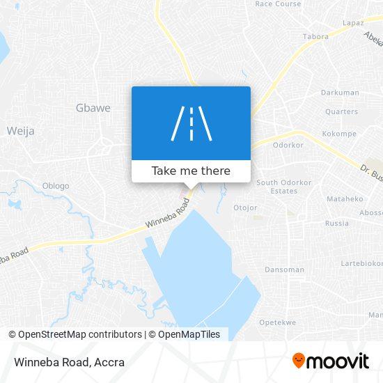 Winneba Road map