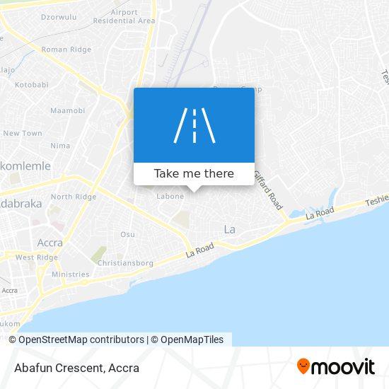 Abafun Crescent map