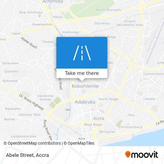 Abele Street map