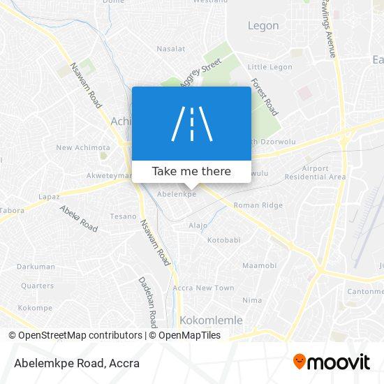 Abelemkpe Road map