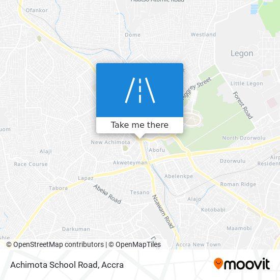Achimota School Road map