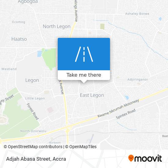 Adjah Abasa Street map