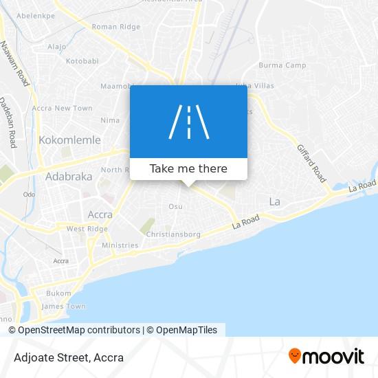 Adjoate Street map