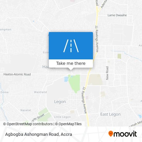 Agbogba Ashongman Road map