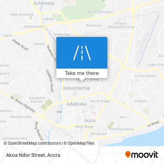 Akoa Ndor Street map