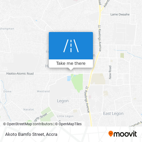 Akoto Bamfo Street map