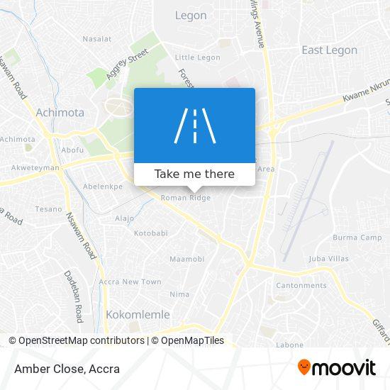 Amber Close map