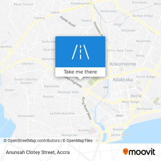 Anunsah Clotey Street map