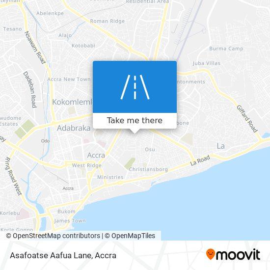 Asafoatse Aafua Lane map