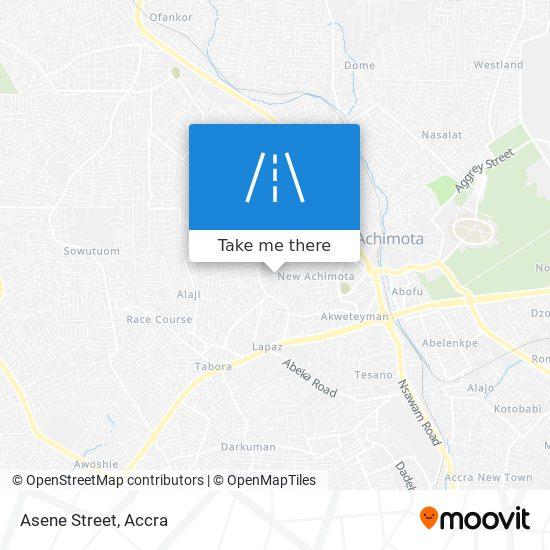 Asene Street map