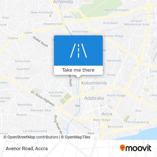Avenor Road map