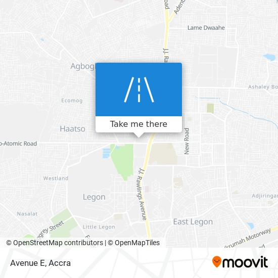 Avenue E map