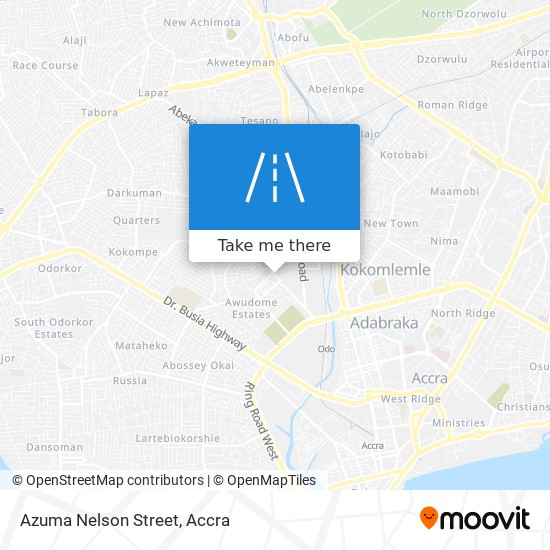 Azuma Nelson Street map