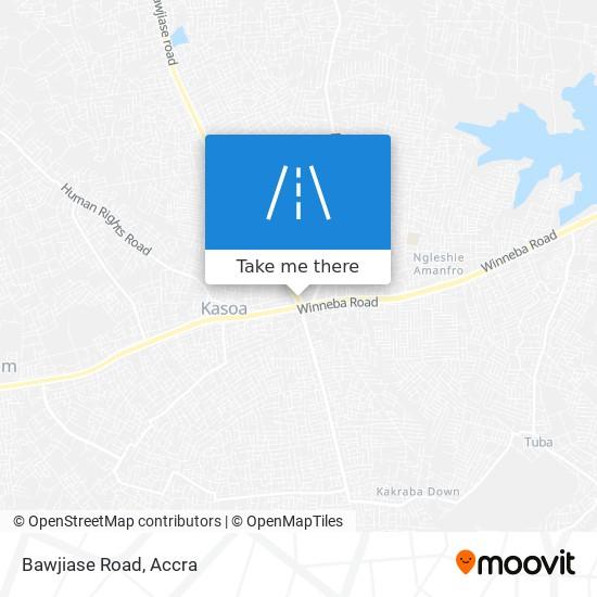 Bawjiase Road map