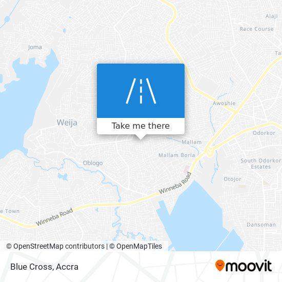 Blue Cross map