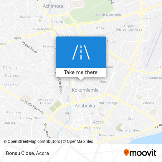 Bonsu Close map