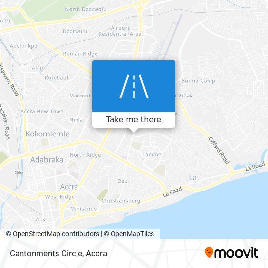 Cantonments Circle map